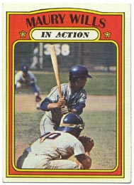 1972 Topps Baseball Cards      438     Maury Wills IA